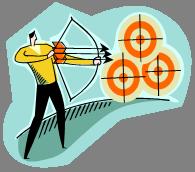 bizman shoot arrow at targets