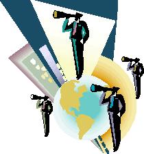 bizmen with telescopes world
