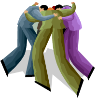 bizpeople in huddle