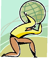 globe on man