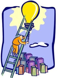 ladder to litebulb