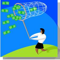 money catch biz woman