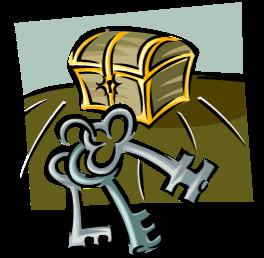 treasure crest keys